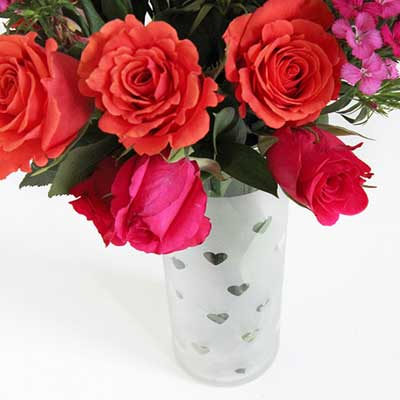 گلدان قلبی قلبی بسازید